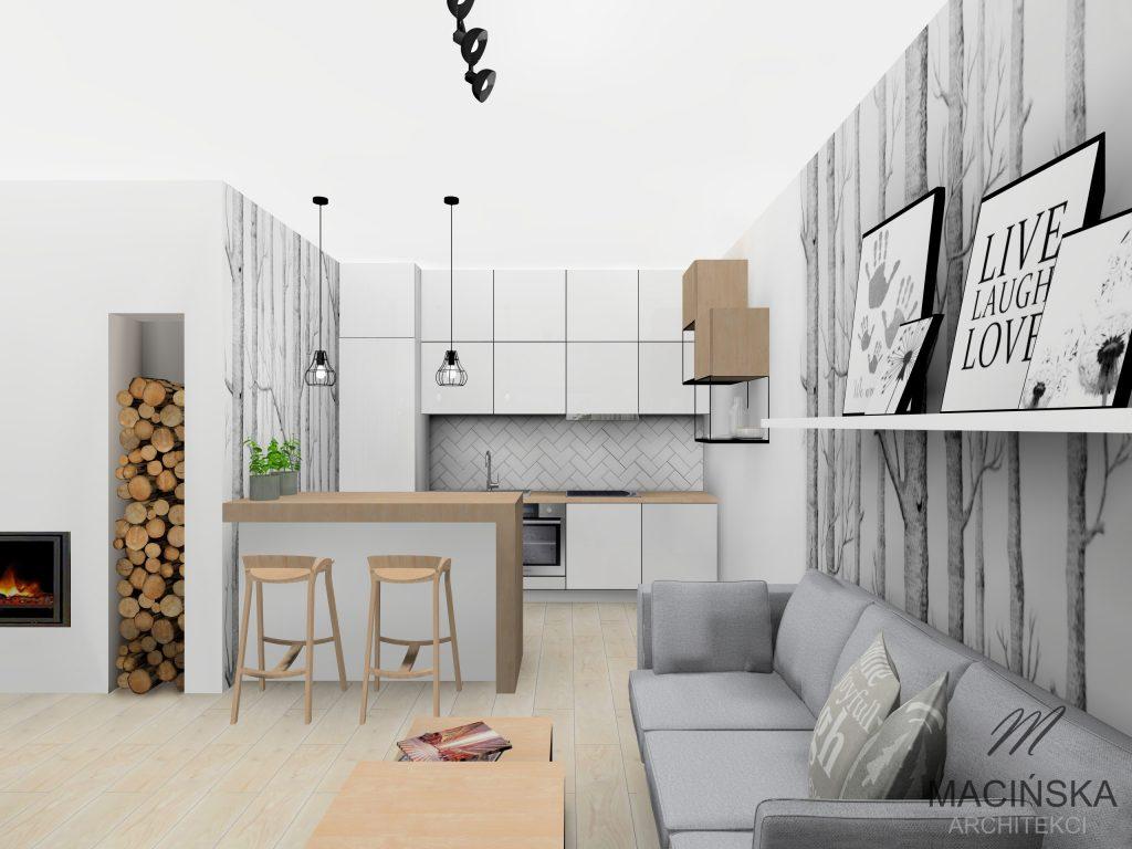 Salon I Kuchnia W Skandynawskim Stylu Macińska Architekci